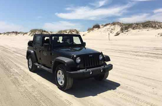 Outer Banks Jeep on beach