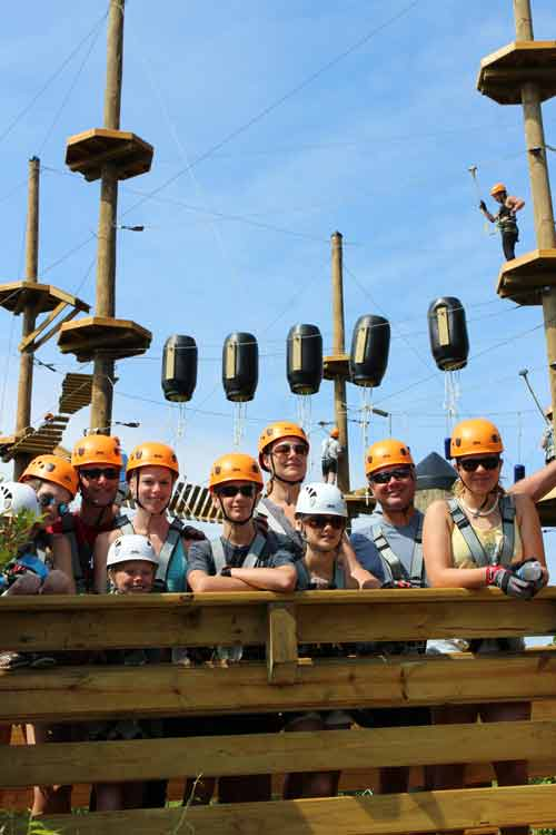 Corolla Adventure Park excited climbers!