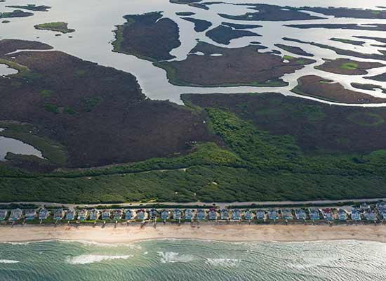 Currituck Outer Banks above sky view