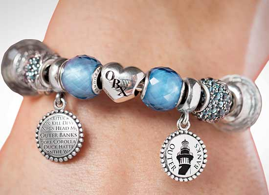 Cotton Gin Pandora local charms bracelet