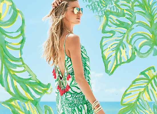 Life's A Beach Green Dress