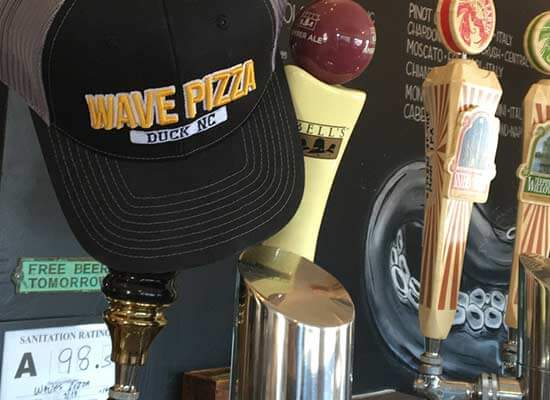 Wave Pizza Beer Duck NC