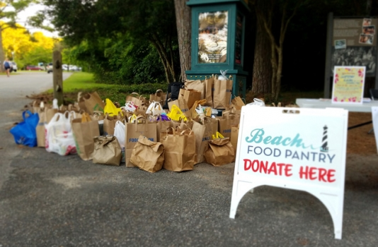 Lost Colony Food Drive Beach Food Pantry