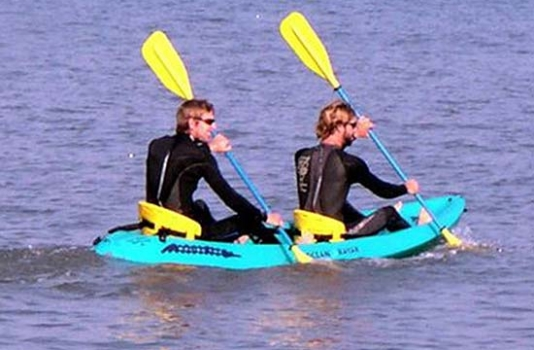 rent kayak wetsuits obx