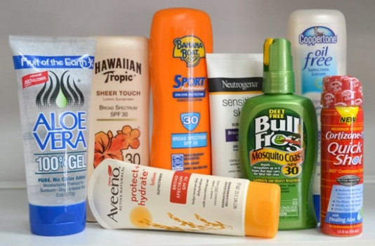 OBX VACATION FUN GUIDE - Photo of suntan lotion from Sunshine Pharmacy