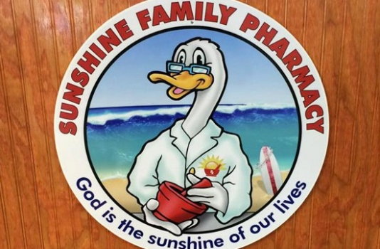 OBX VACATION FUN GUIDE - Photo of SUNSHINE PHARMACY Logo