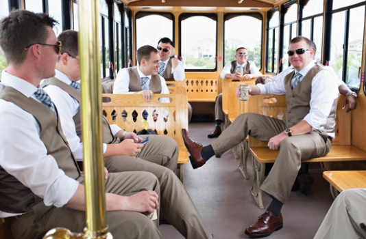 OBX Vacation Fun Guide - OBX Trolley interior photo